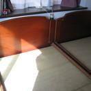 天然木シングルベッドフレーム 2台