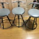 値下げ✨中古 椅子3脚 回転式