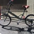 (ほぼ未使用)サスペンション&6段ギア付き折りたたみ自転車