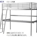 イケア ロフトベッド&棚&テーブル付き 白 (IKEA ホワイト)