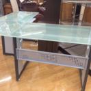 机 パソコンデスク L型 ガラス板