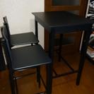 テーブル(バー)&カウンタースツール チェア2個