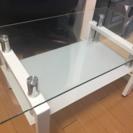 ガラステーブル ホワイト 美品