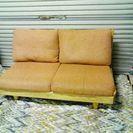 アサヒ家具 国産メーカー2Pソファー クッション羽毛使用