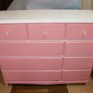 【値下げしました】かわいいピンクのチェストお譲りします✩美品です!