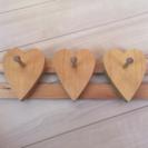 木製ハートハンガー