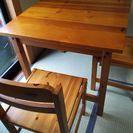★ダイニングテーブル★椅子2脚付!