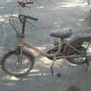子供用自転車 汚れ、傷、変形あり。状態悪い。補助輪?が見つかりました