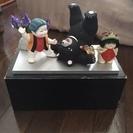 金太郎が熊をひっくり返すシチュエーションの五月人形