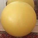 バランスボール 黄色 空気入れ付 エクササイズ