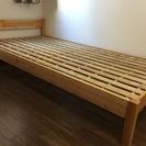 【交渉中】無印良品 パイン材ベッド・シングル 中古