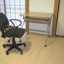 パソコンデスク&事務椅子 セット 曲線フォルムがおしゃれな脚