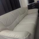 【商談中です】白い(アイボリー)3人掛けのソファー