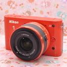 ♥限定カラー オレンジ♥Wi-Fi SD付♥Nikon 1 J2 ...