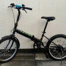 格安:サイモト20型 6段変速 折りたたみ自転車 206HOOH黒...
