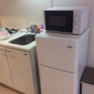 一人暮らし用の冷蔵庫と洗濯機