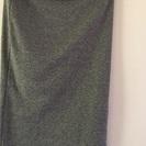 スリット入りカットソー素材スカート