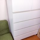 IKEA MALM white 5段 タンス