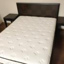 サータ ベッド ベッドフレーム サイドテーブル クイーン