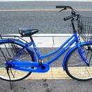 ママチャリ 26インチ 青の画像