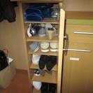 取引中 コンパクトな靴箱です(木製)