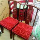 中国椅子 カウンターチェア 3脚セット  - 家具