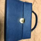 ★エピ風のハンドバッグ【未使用】紺色★