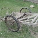 レトロ 木製リヤカー&鞍