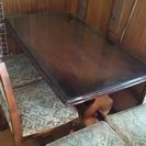 カリモク ダイニングテーブルと椅子4脚