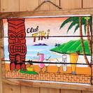 A 最高の雰囲気 ハワイアン ウッド サインボード カフェ バー ...
