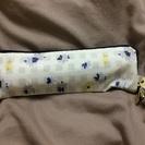 折りたたみ傘 スリム ケース付き 花柄 クリーム色