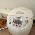 東芝全自動洗濯機2009年製 象印3合炊き炊飯器