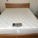 ワイドダブル フランスベッド 差し上げます  無垢材