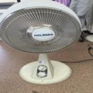 ハロゲンヒーターと扇風機
