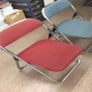 パイプ椅子 色あせあり5脚
