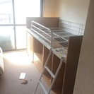 ニトリの二段ベッド(付属のカラーボックスと机なし)