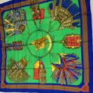 エルメス スカーフ 砂漠の革飾り