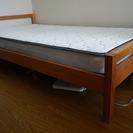 ロフトの木製セミダブルベッド(美品)