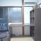 本棚付の机とチェアのセット