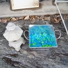 水槽 灯篭 底石 彩り石 植物の種、苗、鉢どれかと交換でお願いします。