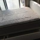 💕無料‼️ニトリ シングルベッド 引出し スプリングマットレス付き