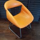 ロータイプの椅子 北欧風オレンジ