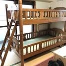 【受付終了】しっかりした作りの木製2段ベッド