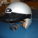 バイク用ヘルメット 銀色 中古