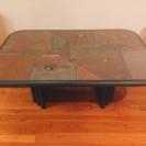【アメリカ製】石素材のローテーブル