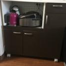 食器棚 可動式家電収納付き