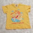95 3歳 くまのプーさん ディズニー 黄色 半そで Tシャツ 美品