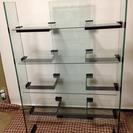 強化ガラス棚 4段シェルフ