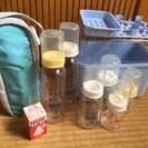 ヌーク哺乳瓶、消毒ケース、哺乳瓶ケースのセット
