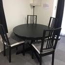 丸テーブル 椅子4脚セット